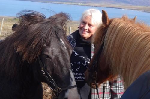 Maria med Islandshästar
